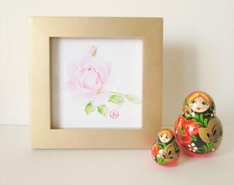 Beautiful Framed Rose Artwork