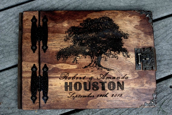 Unique Rustic Wedding Gifts : Unique Gift, Wedding Guest Book, Rustic Family Tree Book, Custom ...