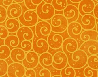 ADORNit Winter Swirl Fabric - Orange 00532