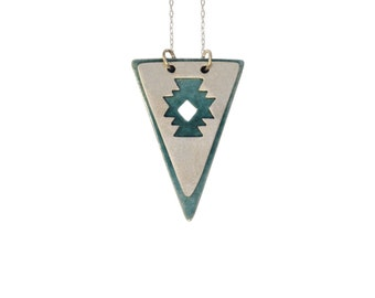 Layered Navajo Triangle Necklace