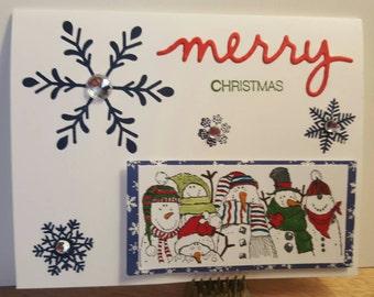 Snowman friends Christmas card