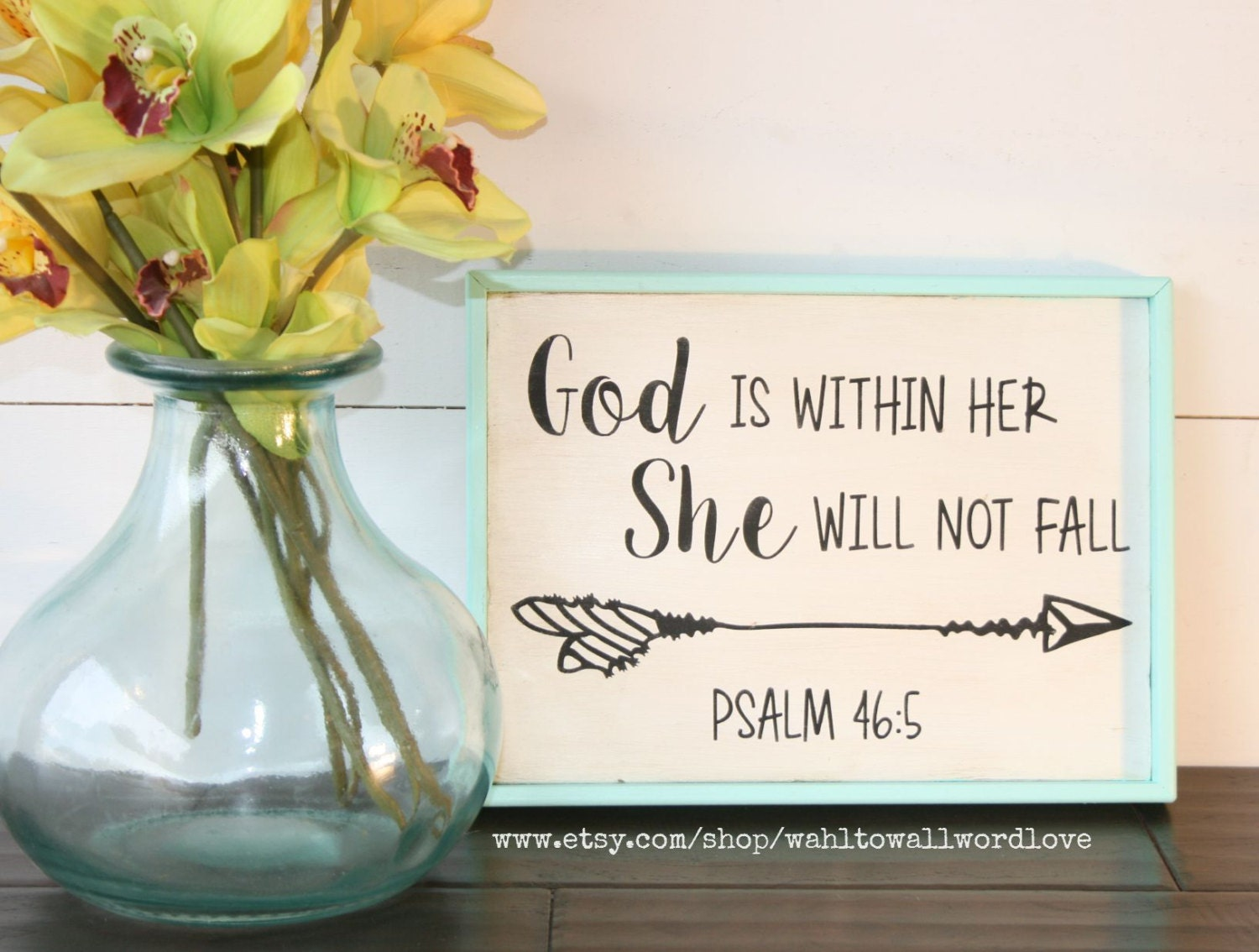 God Is Within Her She Will Not Fall Psalm 46 5 Wooden Faith