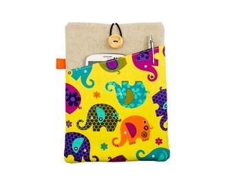 Cute Elephant Kindle Case Cover,Kindle Paperwhite sleeve,Kindle Voyage,FireHD sleeve,Kobo Aura HD,Kobo Glo,Kindle Touch,Kobo case,Nook case