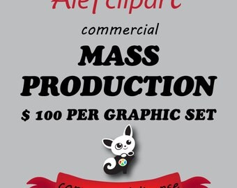 50% OFF SALE One Time Commercial License for Alefclipart Digital Download Products. Mass PRODUCTION