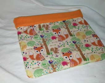 Small Animal Fox's and Hedgehogs in the Woods Cuddle Bag