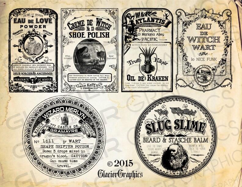 Free Printable Vintage Halloween Labels | www.pixshark.com ...