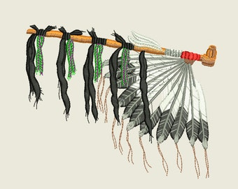 Peace Pipe Embroidery Design