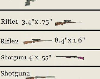 5 Guns Different sizes