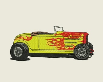 Hot Rod Embroidery Design