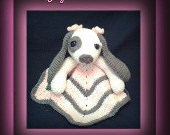 Sweet little puppy security blanket
