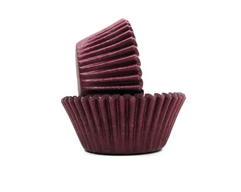 Burgundy Cupcake Liners - 50 Count