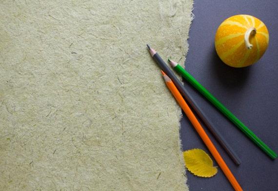 Light Green Paper Handmade Paper Textured Paper Paper