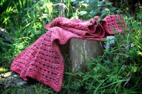 Tunisian Crocheted Shawl
