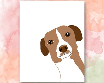 Nursery Wall Art: The Dog Printable, Dog Themed Nursery, Pretty Plus Paper, 8x10 Instant Download