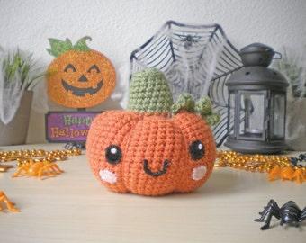 Crochet Pumpkin Stuffed Toy, Halloween Decoration