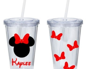Minnie Mouse Tumbler Personalized