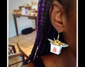 Realistic Chinese Food Takeout Earrings