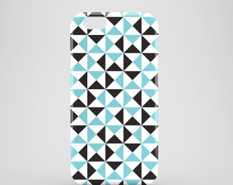 Blue triangles phone case / Geometric phone case / modern design / available for iPhone and Samsung Galaxy S phone models / iPhone 7
