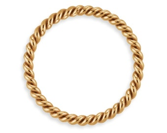 5 Pcs 6mm 20ga 14K Gold Filled Twisted Jump Rings Closed (GF4008206)