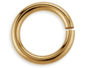 10 Pcs 8 mm 22ga 14K Gold Filled Open Jump Rings (GF22GOJR08)