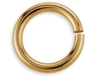 5 Pcs 8 mm 16ga 14K Gold Filled Open Jump Rings (GF16GOJR08)