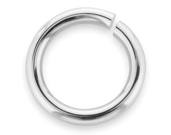 10 Pcs 8 mm 19ga Sterling Silver Open Jump Rings (SS19GOJR08)