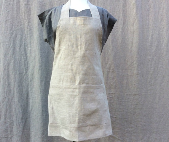 Linen Apron With Ballerina Ties Kitchen Apron French Linen