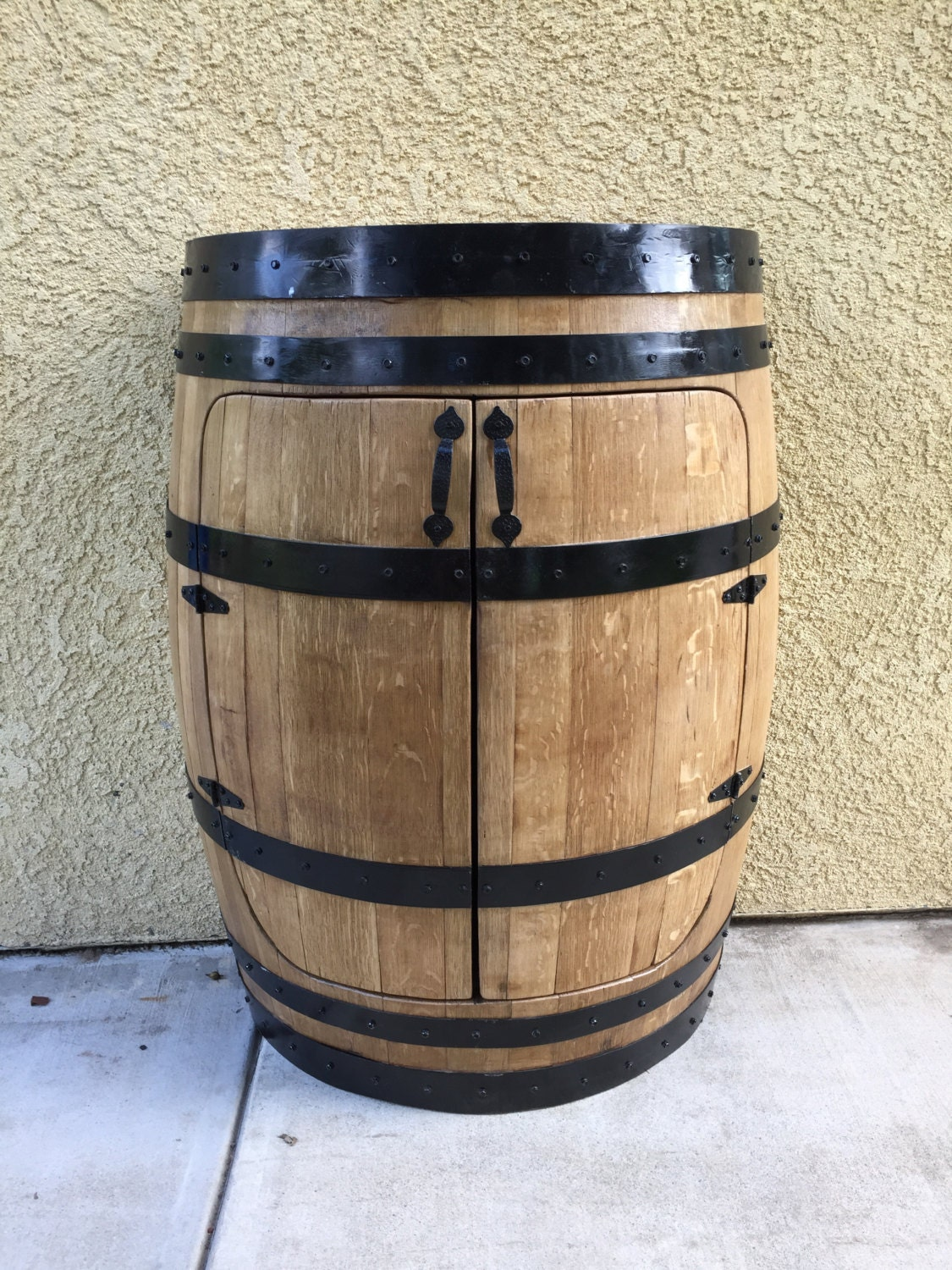Half Oak Wine Barrel Cabinetwine Barrel By