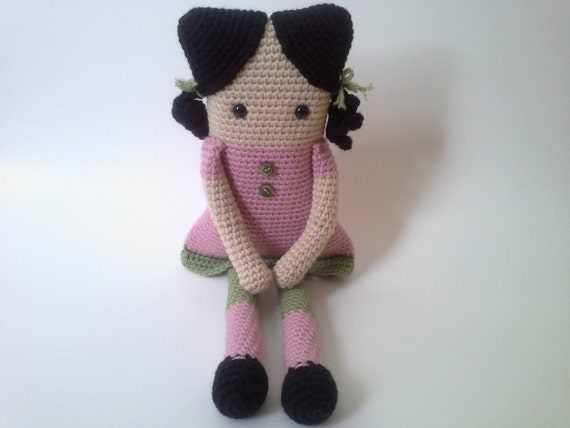 Amigurumi Square Doll : Items similar to Square Crochet Doll, Amigurumi Crochet ...