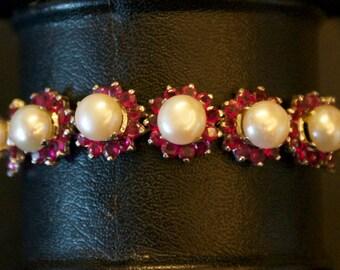 cultured Pearl, CZ Bracelet