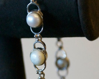 Cultured Pearl Silver Bracelet