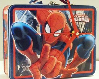 Spider Man Lunch Box Clock