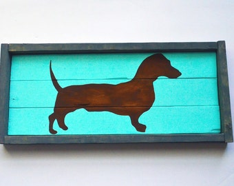 Dachshund wood sign - wiener dog wood sign
