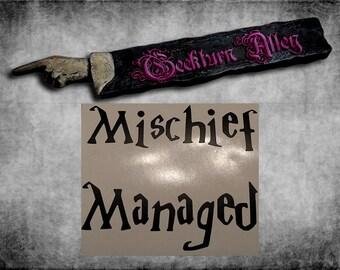 Mischief Managed Decal
