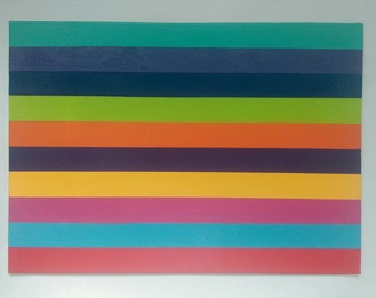 Modern colour line painting