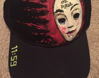 The Exquisite Corpse Hand Painted The Purge Themed Baseball Cap