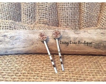 Rose Gold and Silver Bobby Pins-Hair Clips-Hair Accessory