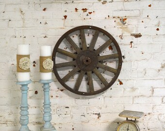Painted Cottage Prairie One of a Kind Model T Car Wheel