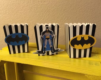 Batman theme popcorn boxes