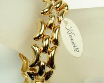 Krementz Gold-Plated Three Row Bracelet with Original Hang Tag