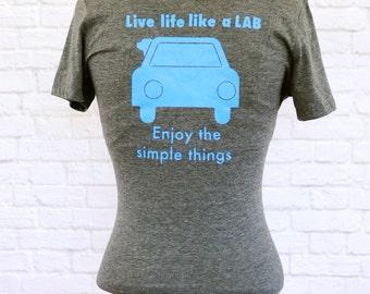 Womens T-shirt, Lab, Laborador Retriever, Enjoy the simple things