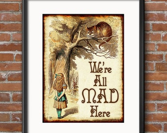 Alice in Wonderland Decorations - Instant Download - Wonderland Decor - Scrapbook Invitations Alice in Wonderland Party Decorations