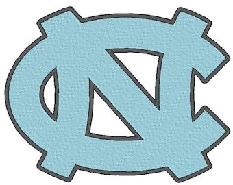 North Carolina Tarheels Embroidery Design.  3 Hoop Sizes