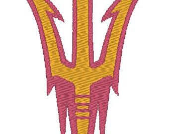 Arizona State Sun Devils Embroidery Design.  3 Hoop Sizes