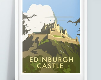 Edinburgh Castle Travel Art Poster