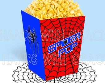 "Printable popcorn box ""Spiderman"""