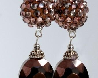 Disco Brown Earrings