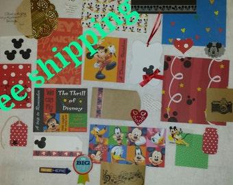 Disney theme junk journal kit. Smash journal kit.