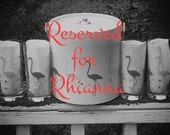 Reserved for Rhianna - Retro 80's Libbey Flamingo Barware and Ice Bucket