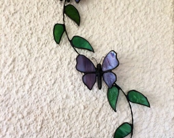 Staind Glass Butterfly, Glass Wall Hanger, Home Decor, Butterfly Home Decor,  Glass